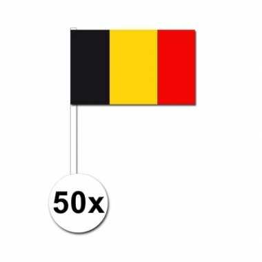 50 zwaaivlaggetjes belgische vlag