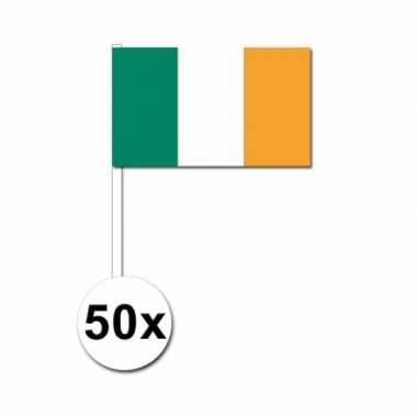 50 zwaaivlaggetjes ierse vlag | vlag.eu