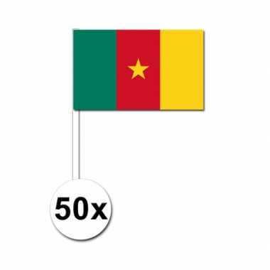50 zwaaivlaggetjes kameroense vlag