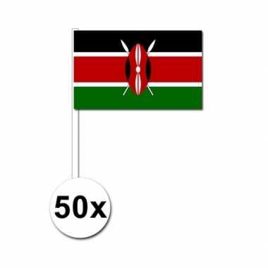 50 zwaaivlaggetjes kenia vlag