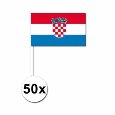 50 zwaaivlaggetjes kroaatse vlag