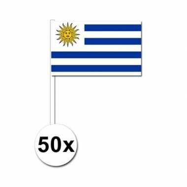 50 zwaaivlaggetjes uruguay vlag