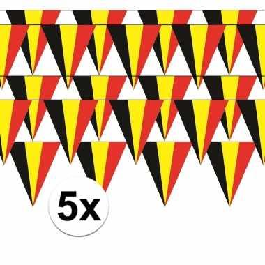 5x belgie vlaggenlijn / slinger 5 meter