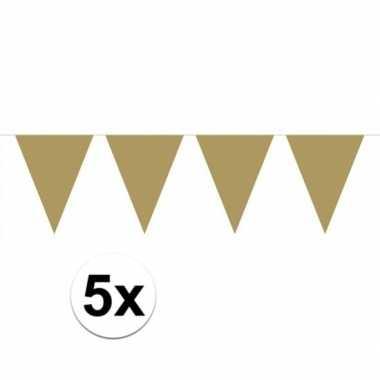 5x groot formaat gouden vlaggenlijnen
