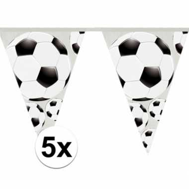 5x slingers voetbal vlaggen van 4 meter