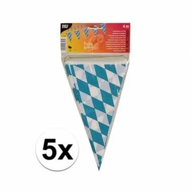 5x stuks buiten vlaggetjes bayern oktoberfest