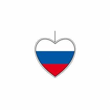 5x thema rusland hangdecoratie hart 14 cm