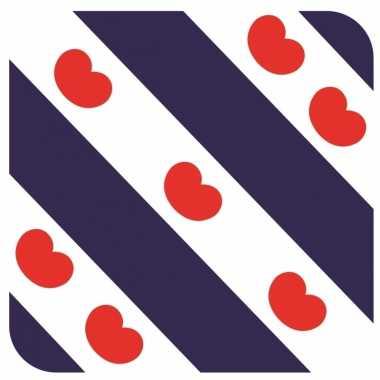 60x bierviltjes friese vlag vierkant