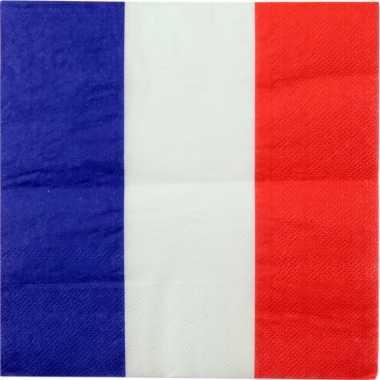 60x frankrijk landen thema servetten 33 x 33 cm