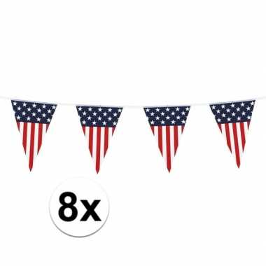 8 stuks vlaggetjes vs 6 meter
