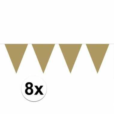 8x gouden vlaggenlijnen 10 meter