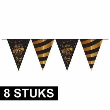 8x luxe jaarwisseling vlaggenlijn 10 mtr