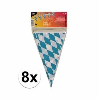 8x stuks buiten vlaggetjes bayern oktoberfest