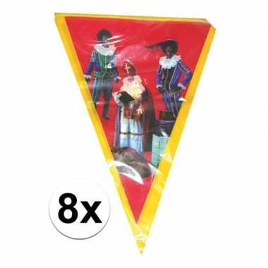 8x vlaggen slinger sint en piet 5 meter