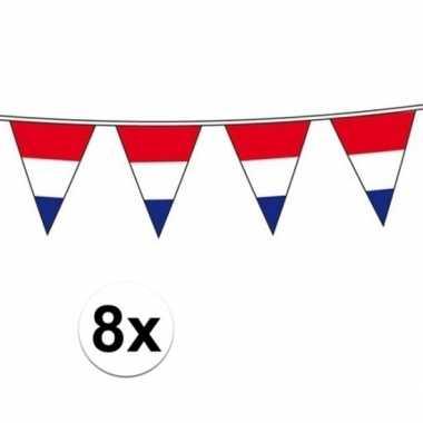8x vlaggenlijn hollandse vlaggetjes