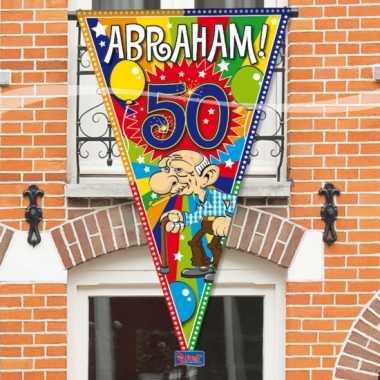 Abraham 50 jaar gevelvlag 90 x 150 cm