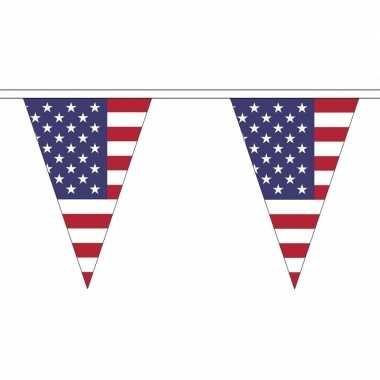 Amerika versiering vlaggenlijn 20 m