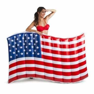 Amerika vlag opblaasbaar 150 cm