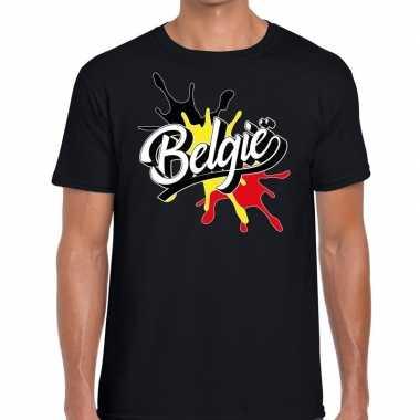Belgie t-shirt spetter zwart voor heren