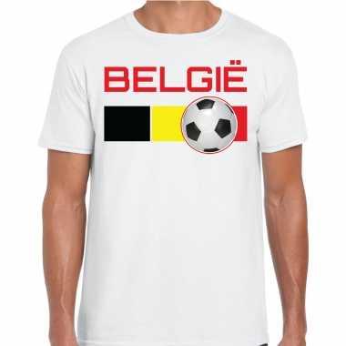 Belgie voetbal / landen t-shirt wit heren