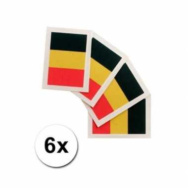 Belgische supporters tattoo 6 stuks