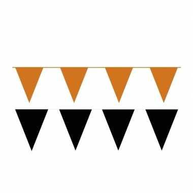 Black and orange thema party vlaggetjes