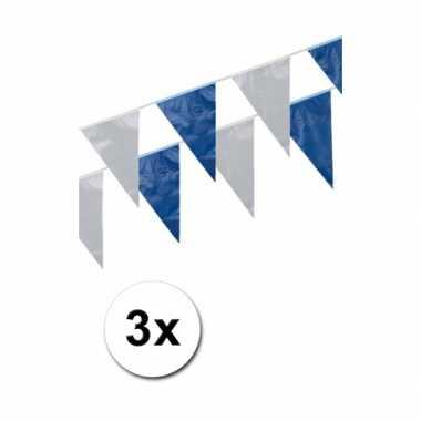 Blauw/witte slinger 3 stuks