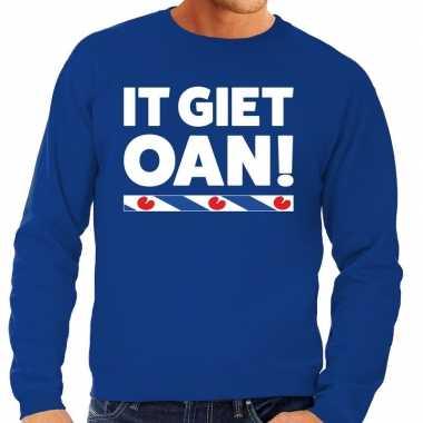 Blauwe trui / sweater friesland it giet oan heren