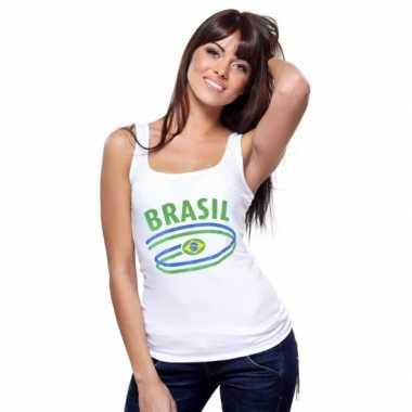 Braziliaanse vlaggen tanktop voor dames