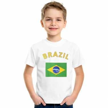 Brazilie vlaggen t-shirts voor kinderen