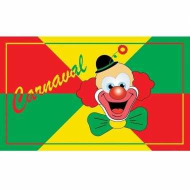 Carnaval feest vlag 90 x 150 cm