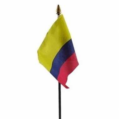 Colombia luxe zwaaivlaggetje polyester