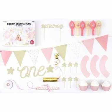 Compleet verjaardagpakket 1 jaar meisje