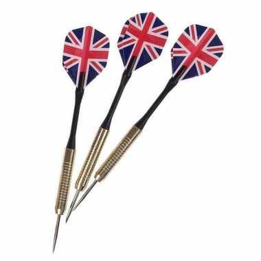 Dartpijlen set met engelse/britse vlag 3 stuks