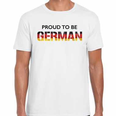 Duitsland proud to be german landen t-shirt wit heren