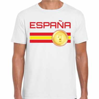 Espana / spanje landen t-shirt wit heren