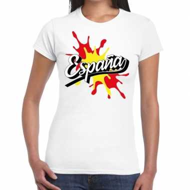 Espana/spanje t-shirt spetter wit voor dames
