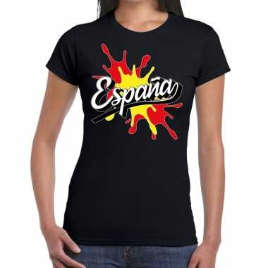 Espana/spanje t-shirt spetter zwart voor dames