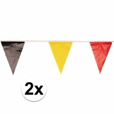 Feest vlaggenlijnen/slingers belgi? 10 meter 2 stuks