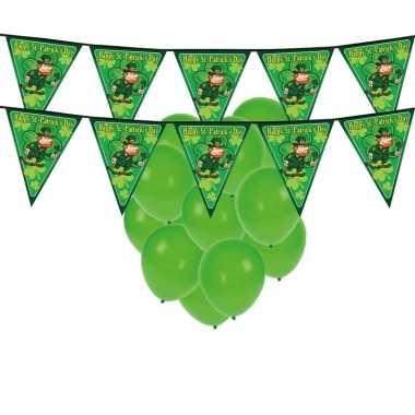 Feestartikelen st. patricks day incl. ballonnen en feestslinger