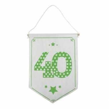 Feestversiering 40 jaar geworden vaantje/vlaggetje