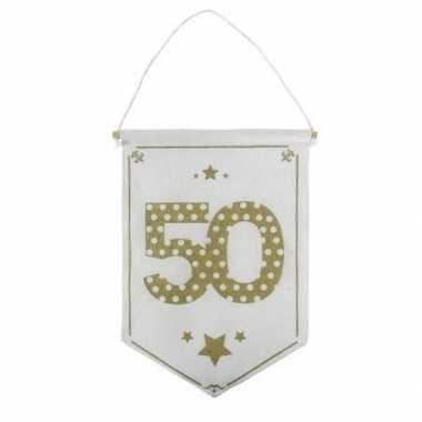 Feestversiering 50 jaar geworden vaantje/vlaggetje