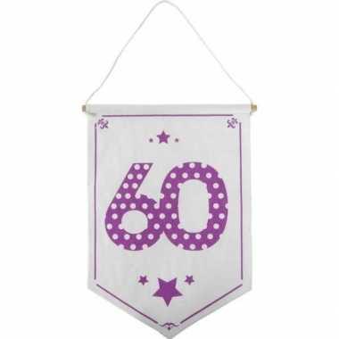 Feestversiering 60 jaar geworden vaantje/vlaggetje