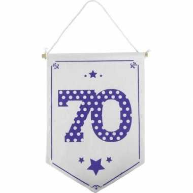 Feestversiering 70 jaar geworden vaantje/vlaggetje