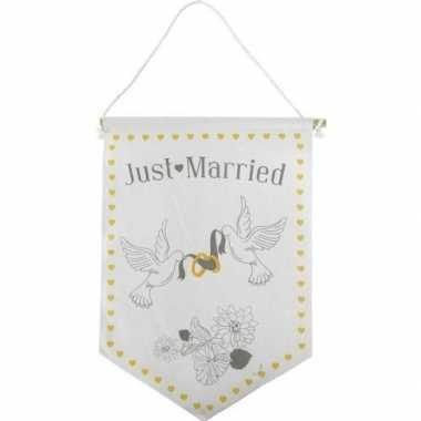Feestversiering getrouwd vaantje/vlaggetje just married