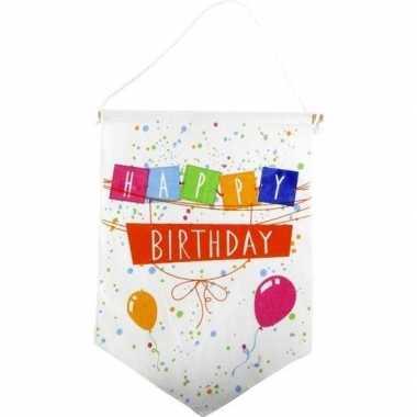 Feestversiering verjaardags vaantje/vlaggetje happy birthday