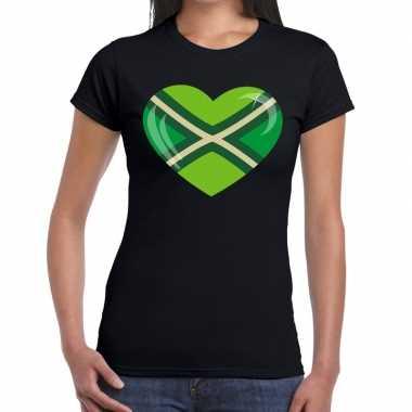 Festival shirt i love zwarte cross zwart dames