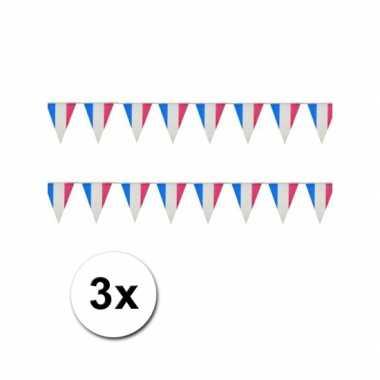Franse punt vlaggetjes 3x