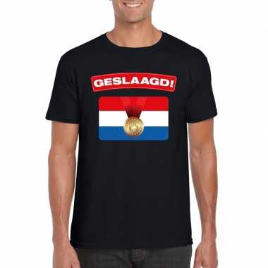 Geslaagd vlag t-shirt zwart heren