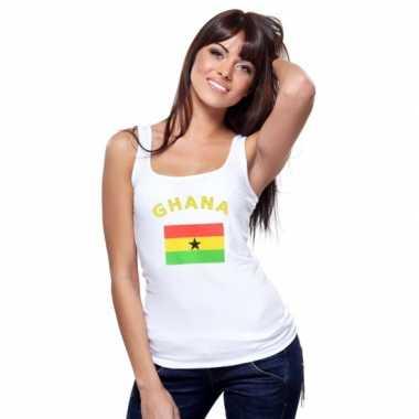 Ghanese vlag tanktop/ singlet voor dames